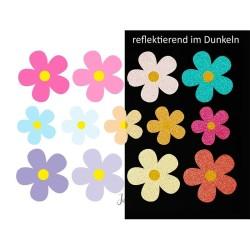 Wasserfeste reflektierende Sticker Blumen von Jabalou