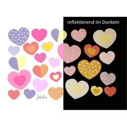 Wasserfeste reflektierende Sticker Herzen von Jabalou