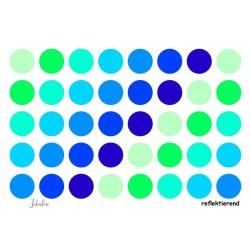Wasserfeste reflektierende Sticker Punkte in blau-grün von Jabalou