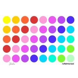 Wasserfeste reflektierende Sticker Punkte Regenbogen von Jabalou