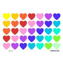 Wasserfeste reflektierende Sticker Konfetti Herzen von Jabalou