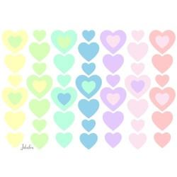 Wasserfeste Sticker Herzen Candy von Jabalou