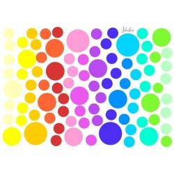 Wasserfeste Sticker Punkte Regenbogen von Jabalou