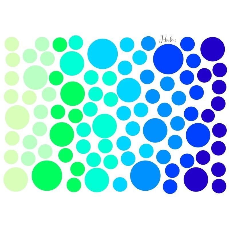 Wasserfeste Sticker Punkte in blau-grün von Jabalou