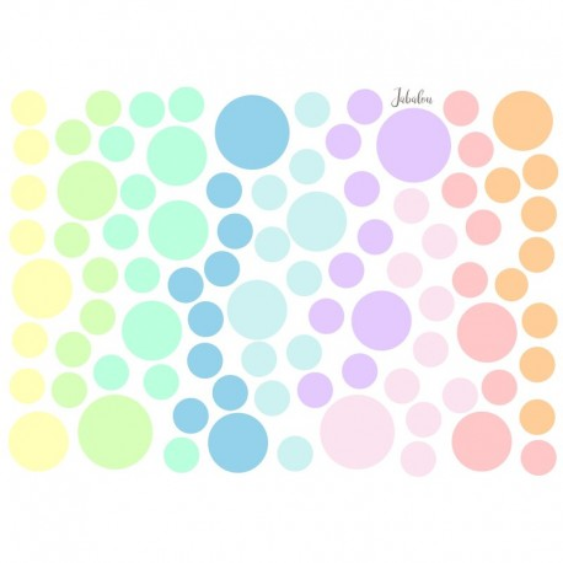 Wasserfeste Sticker Punkte Pastellfarben von Jabalou