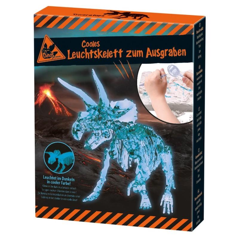 Triceratops Leuchtskelett zum Ausgraben