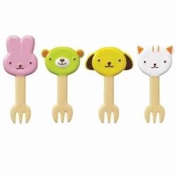 Bento Fork Food Picks - 8 Mini Gabeln Tiere