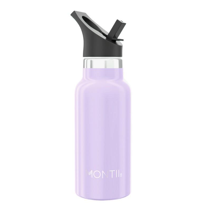 Isolierte Edelstahl Kinder Trinkflasche in lavendel lila von MontiiCo