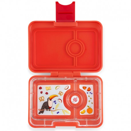 Yumbox Znünibox Mini mit 3 Fächern - Safari Orange