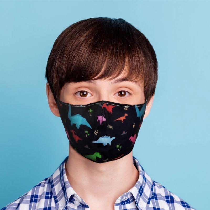 Mund-Nasen-Maske Dinosaurier für Kinder