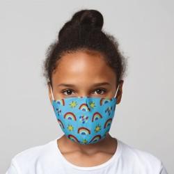 Mund-Nasen-Maske Regenbogen für Kinder