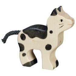 Holztiger Holzfigur Katze