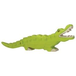 Holztiger Holzfigur Krokodil