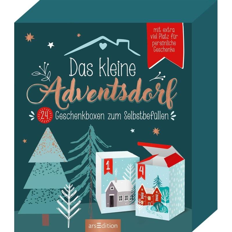 Das kleine Adventsdorf - 24 Geschenkboxen zum Selbstbefüllen