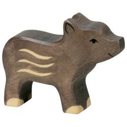 Holztiger Holzfigur Wildschwein Frischling