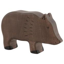 Holztiger Holzfigur Wildschwein
