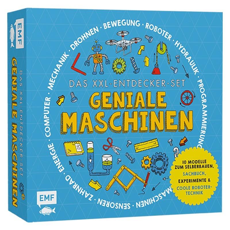 Das XXL Entdecker-Set Geniale Maschinen: Mit 10 Modellen zum Selberbauen