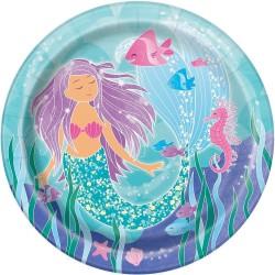 Pappteller Meerjungfrau von Unique Party