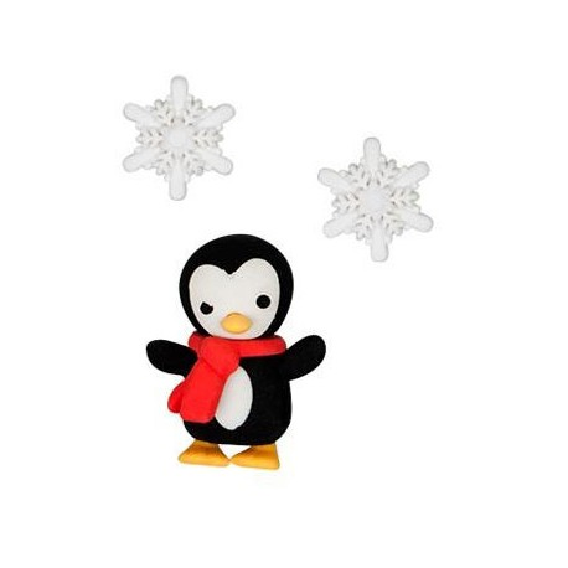 Radierer-Set Pinguin & Schneeflocke
