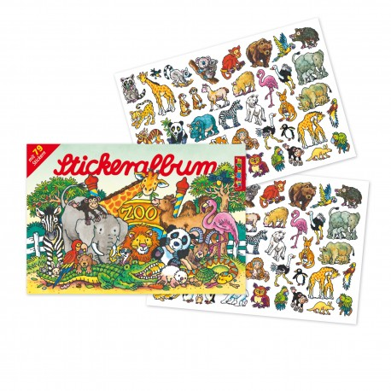 Stickeralbum Wilde Tiere von Lutz Mauder