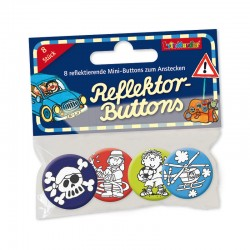 Mini Reflektor Button Set Feuerwehr, Pirat & Co.