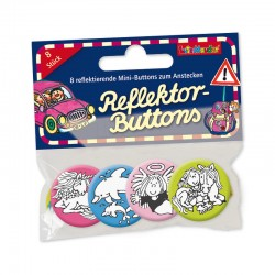 Mini Reflektor Button Set Einhorn, Delfin und Co.