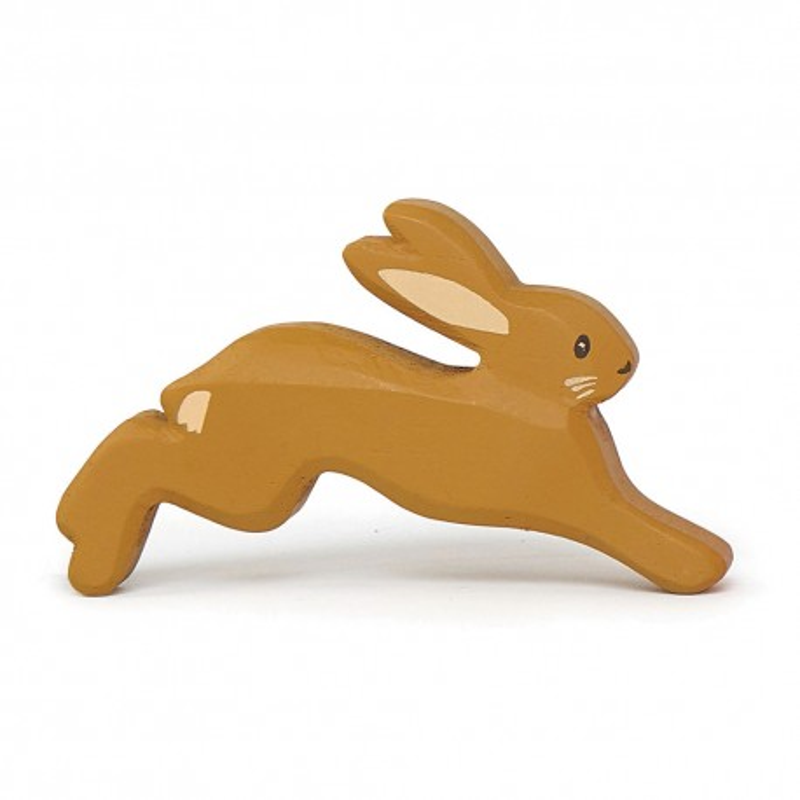 Holztier Hase in braun von Tender Leaf Toys