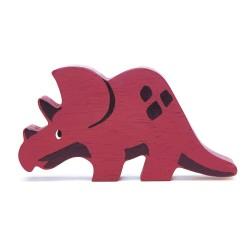 Holzfigur Dinosaurier Triceratops von Tender Leaf Toys