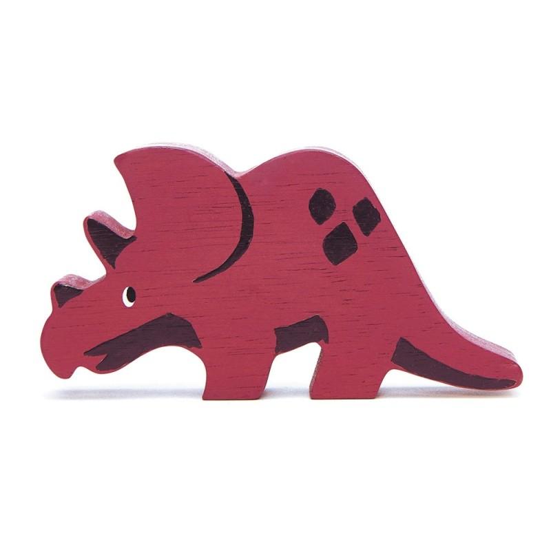 Holztier Dino Triceratops von Tender Leaf Toys