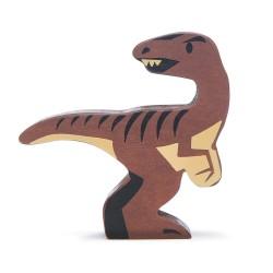 Holzfigur Dinosaurier Velociraptor von Tender Leaf Toys