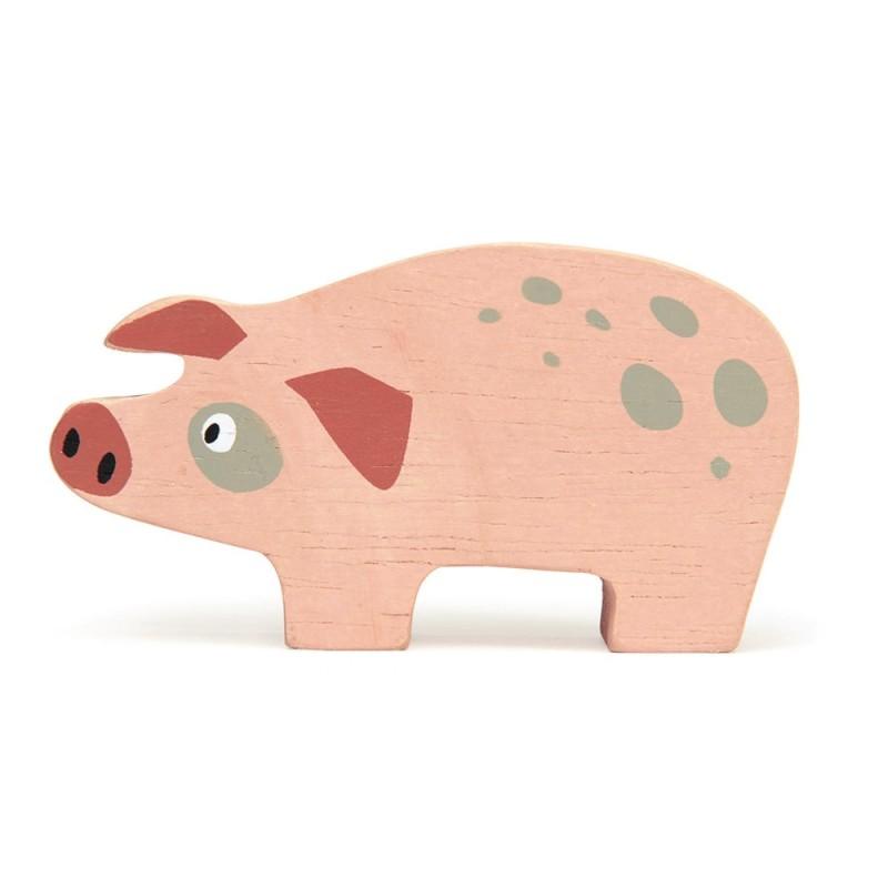 Holztier Schwein von Tender Leaf Toys