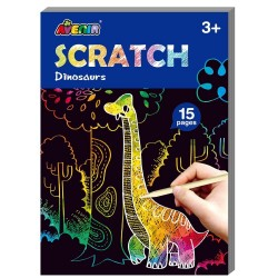 Mini Scratch Art Kratzbilder Dinosaurier