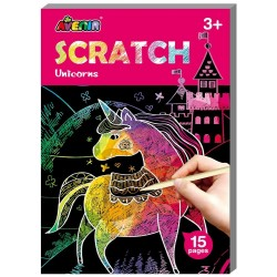 Mini Scratch Art Kratzbilder Einhörner