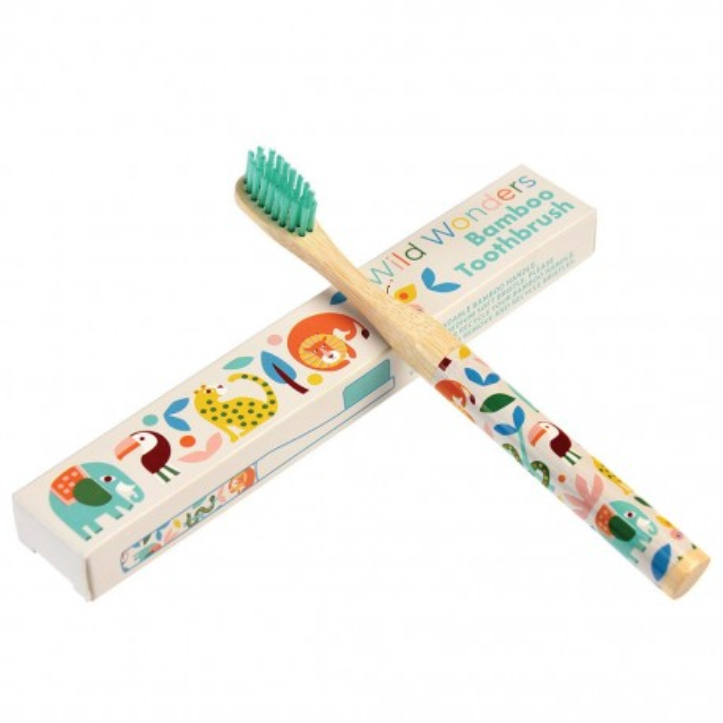 Bambus Zahnbürste Wild Wonders für Kinder von Rex London