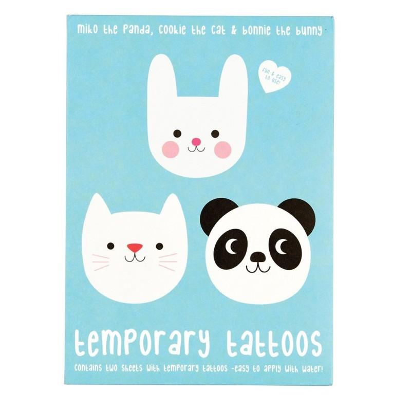 Tattoos Miko the Panda, Cookie the Cat und Bonnie the Bunny von Rex London