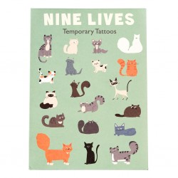 Tattoos Nine Lives Katzen von Rex London