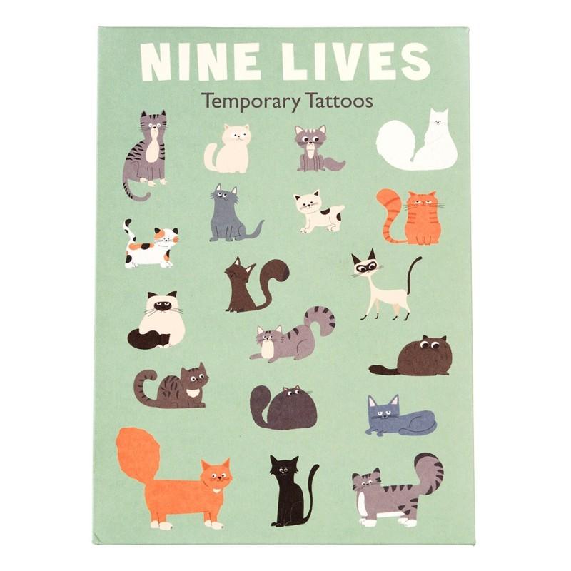 Tattoos Nine Lives Katzen von Rex London