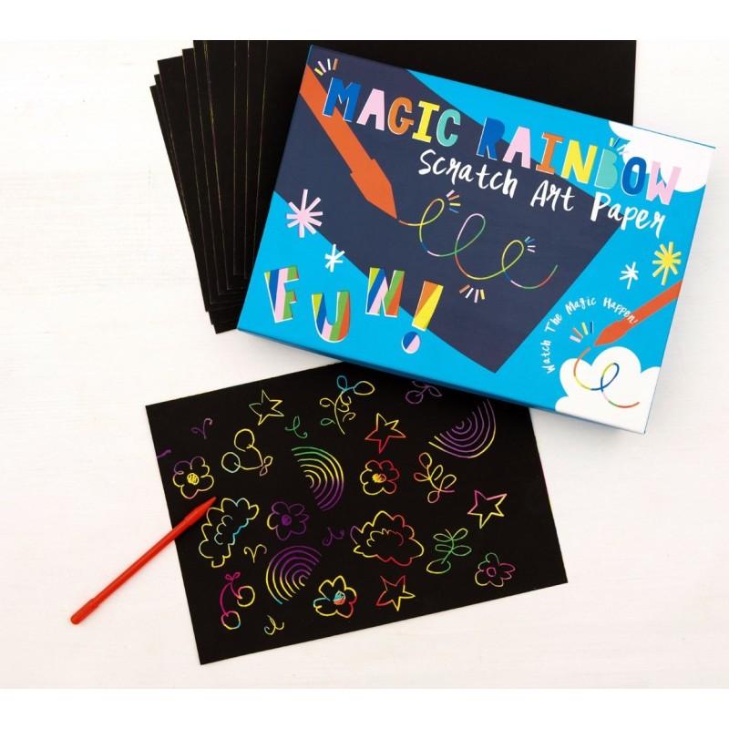 Magic Rainbow Scratch Art Kratzbilder Set von Rex London