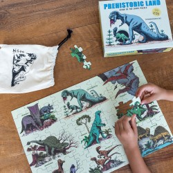 Glow in the Dark Puzzle Dinosaurier Prehistoric Land mit 100 Teilen