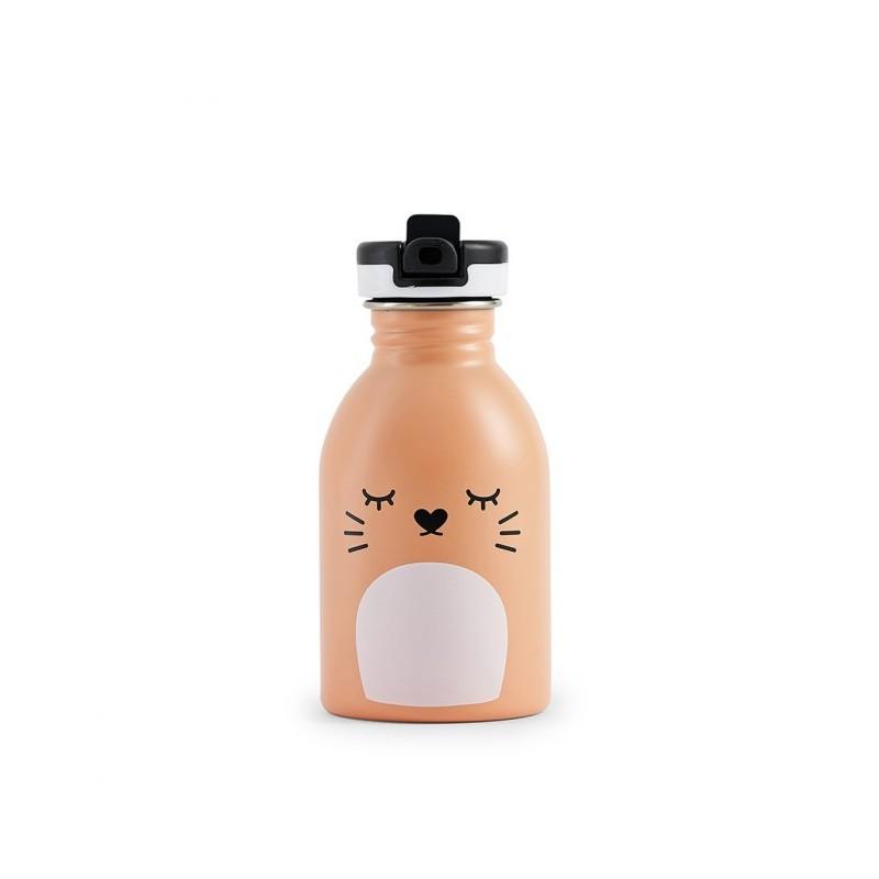 Trinkflasche Ricemimi in pfirsichfarben von Noodoll und 24Bottles