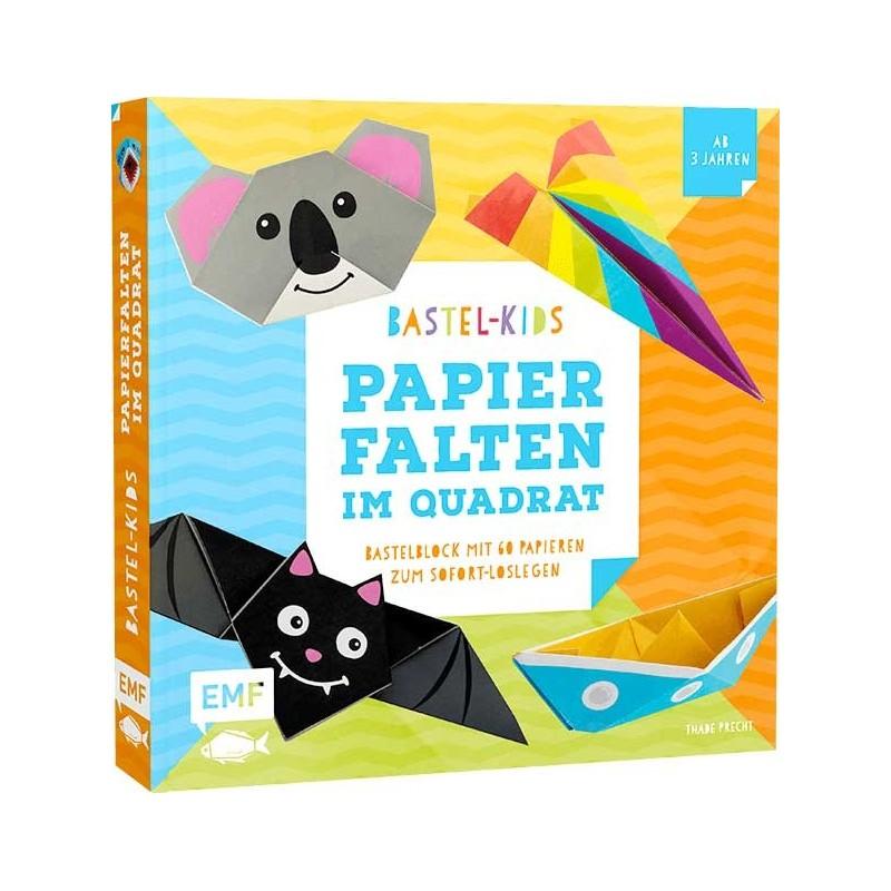 Bastel-Kids – Papierfalten im Quadrat
