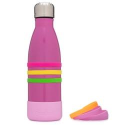 Yumbox Aqua - Edelstahl Trinkflasche in pink