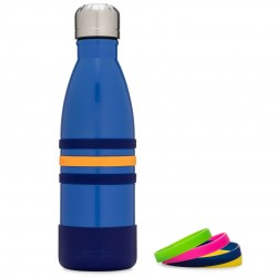 Yumbox Aqua - Edelstahl Trinkflasche in blau