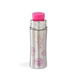 Affenzahn Edelstahl Trinkflasche für Kinder in pink