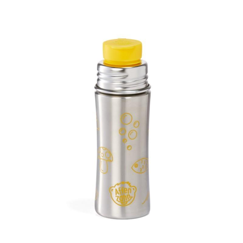 Affenzahn Edelstahl Trinkflasche für Kinder in gelb