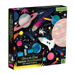 Glow in the Dark Puzzle Space Weltall mit 500 Teilen