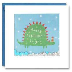 Geburtstagskarte Dinosaurier Konfetti Shakies