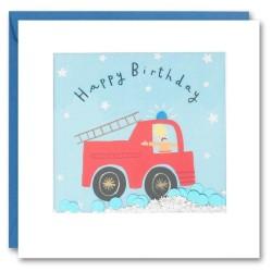 Geburtstagskarte Feuerwehr Konfetti Shakies