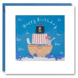 Geburtstagskarte Piratenschiff Konfetti Shakies