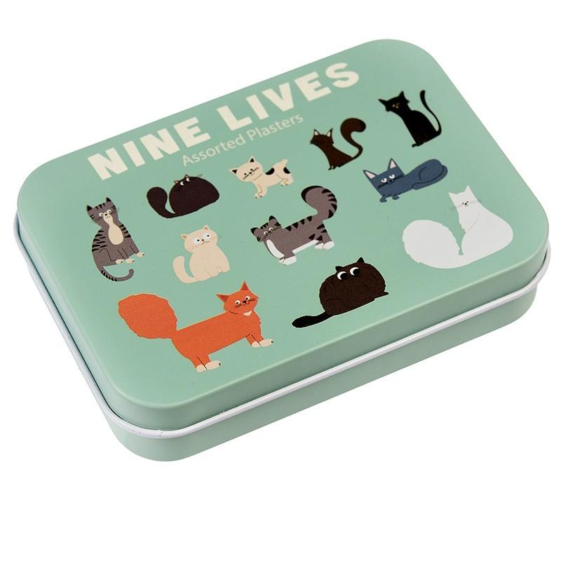 Pflaster Nine Lives Katzen in Metalldose von Rex London